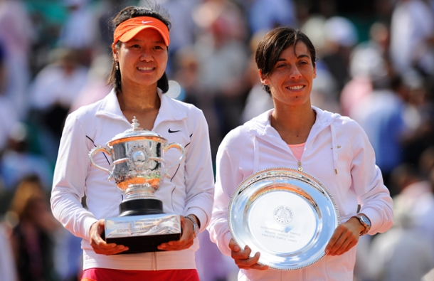 French Open - Li Na and Francesa Schiavone