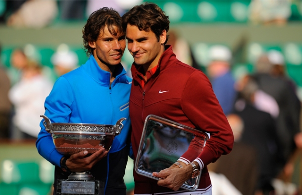 French Open - Rafael Nadal and Roger Federer