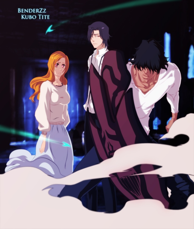 Bleach Chapter 455 - Orihime and Sado - coloured by benderZz (http://benderzz.deviantart.com)