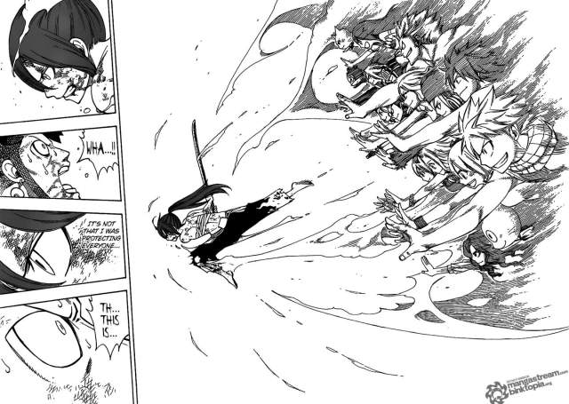 Fairy Tail Chapter 237 - Erza Scarlet empowered by her guild