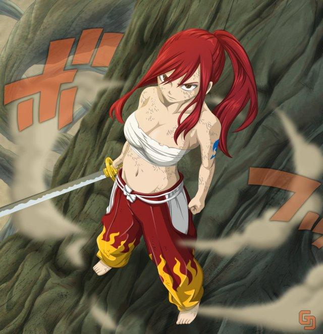 Fairy Tail Chapter 236 - Erza Scarlet - coloured by gran-jefe (http://gran-jefe.deviantart.com)