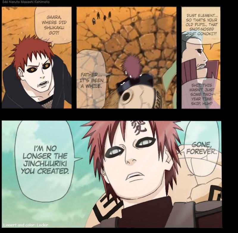 Naruto Chapter 546 - Gaara - coloured by COH-ru (http://coh-ru.deviantart.com)