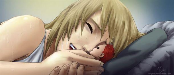 Naruto Chapter 547 - Karura and Gaara - coloured by Adoyn (http://adyon.deviantart.com)