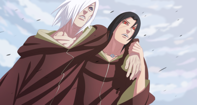 Naruto Chapter 548 - Nagato and Itachi - colour by themaxs (http://themnaxs.deviantart.com)