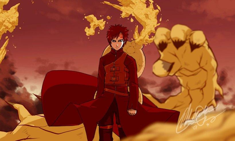 Naruto - Gaara of the Sand by EiffelArt (http://eiffelart.deviantart.com)