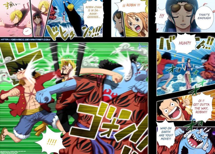 One Piece Chapter 629 - Robin's clone - coloured by DEIVISCC (http://deiviscc.deviantart.com)