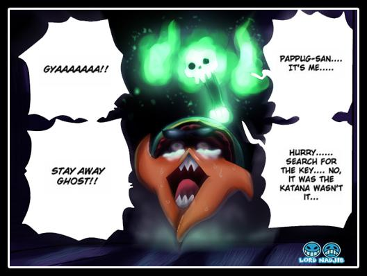One Piece Chapter 629 - Pappug running away from Brook - coloured by Lord-Nadjib (http://lord-nadjib.deviantart.com)