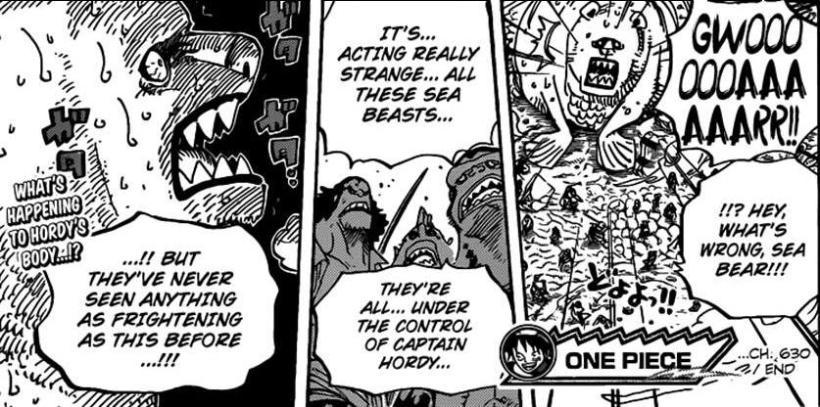 One Piece Chapter 630 - Terrified Sea Bear