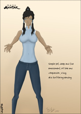 Drawing-Avatar-Korra-2v2.7a - by Syphin
