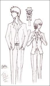 Bleach Drawing - Ichigo and Rukia