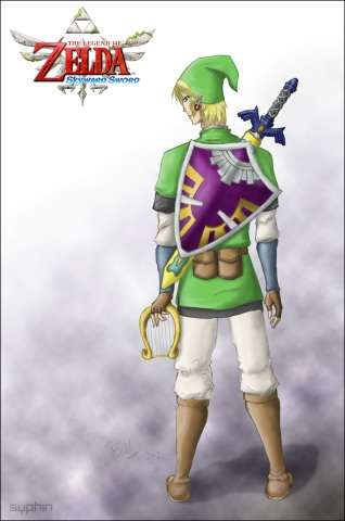 Drawing-TLoZ-Link-v2.5 - by Syphin