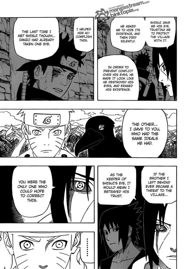 Naruto Chapter 550 - Shisui's sacrifice