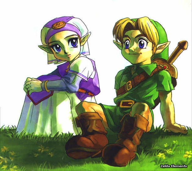 The Legend of Zelda: Ocarina of Time - Link and Zelda
