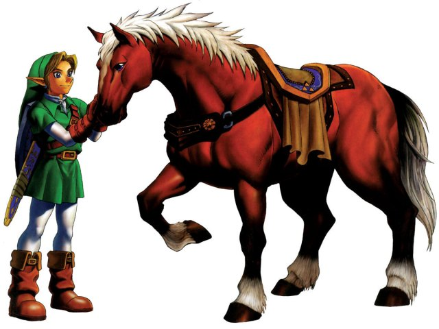 The Legend of Zelda: Ocarina of Time - Link and Epona