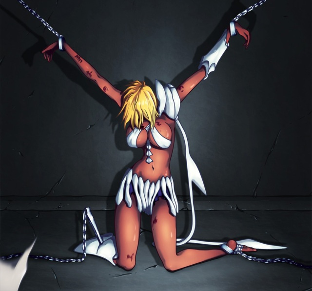 Bleach Chapter 485 -  The Queen Chained - colour by Bl4ckBurn (http://bl4ckburn.deviantart.com)