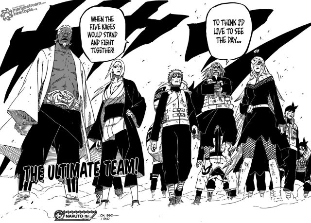 Naruto Chapter 562 - The Five Kages