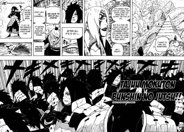 Naruto Chapter 578 - Tajuu Mokuton Bunshin no Jutsu