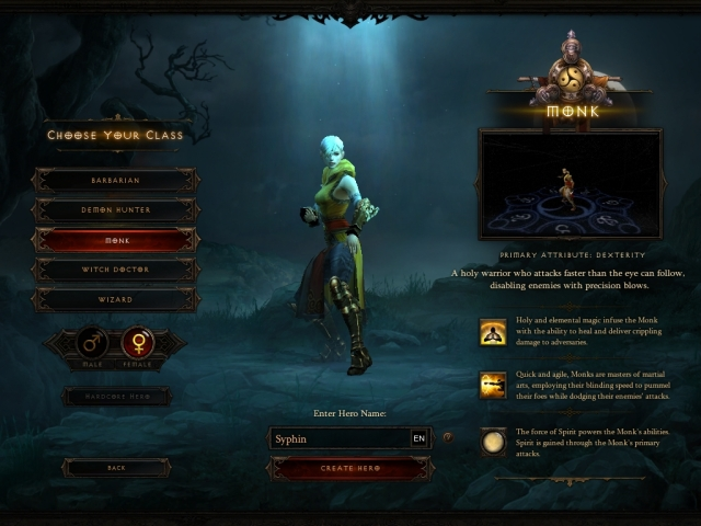 Diablo III - Syphin - Monk