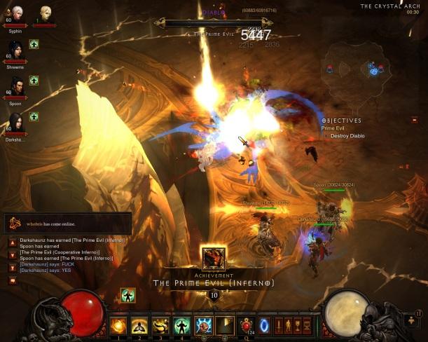 Diablo III - Inferno Diablo Defeated