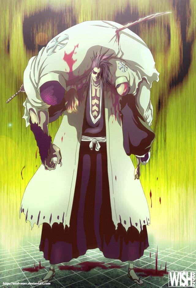 Bleach Chapter 502 - Zaraki Kenpachi - colour by Wish-Man (http://wish-man.deviantart.com)