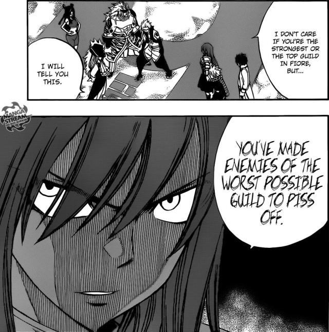 Fairy Tail Chapter 292 - Erza Scarlet angry