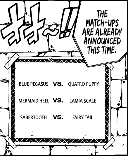 Fairy Tail Chapter 292 - Day 3 battle match-ups