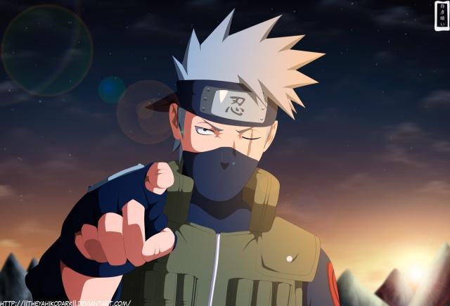 Naruto Chapter 596 - Kakashi - colour by IITheYahikoDarkII (http://iitheyahikodarkii.deviantart.com)