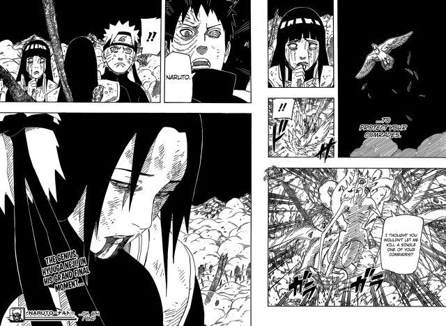 Naruto Chapter 614 - Neji's act of freedom