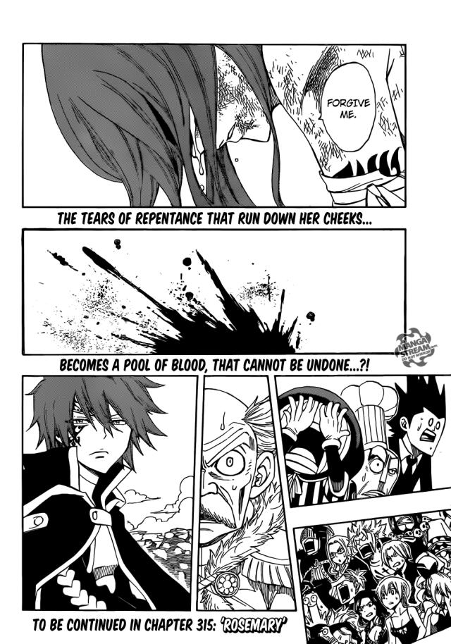 Fairy Tail Chapter 314 - spilt blood
