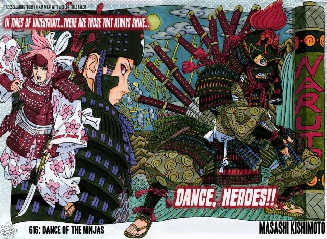 Naruto chapter 616 - colour spread