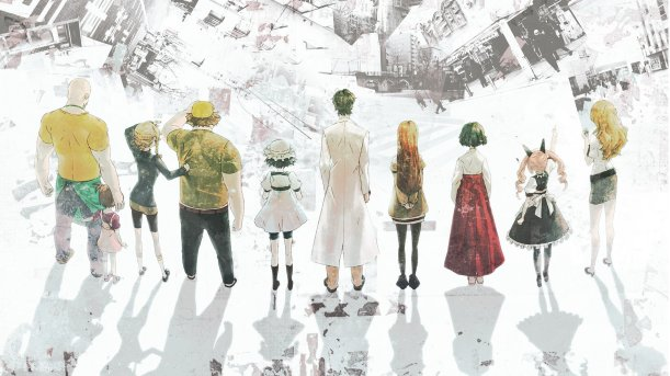 The cast of Steins;Gate