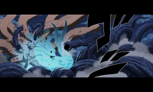 Naruto ch620 - Madara vs Hashirama - colour by themnaxs (http://themnaxs.deviantart.com)