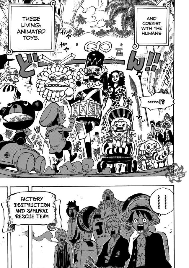 One Piece ch701 - Dressrosa, what a place...