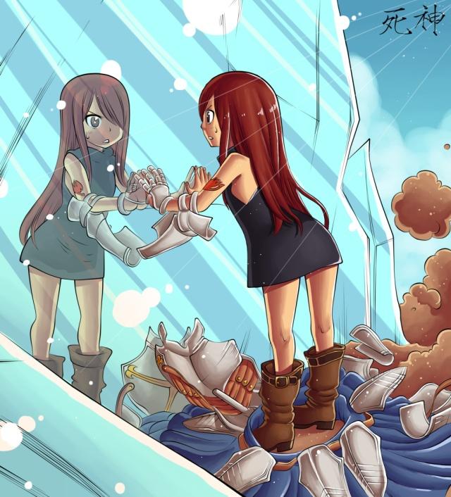 Fairy Tail chapter 344 - Kid Erza - colour by Hitotsumami (http://hitotsumami.deviantart.com)