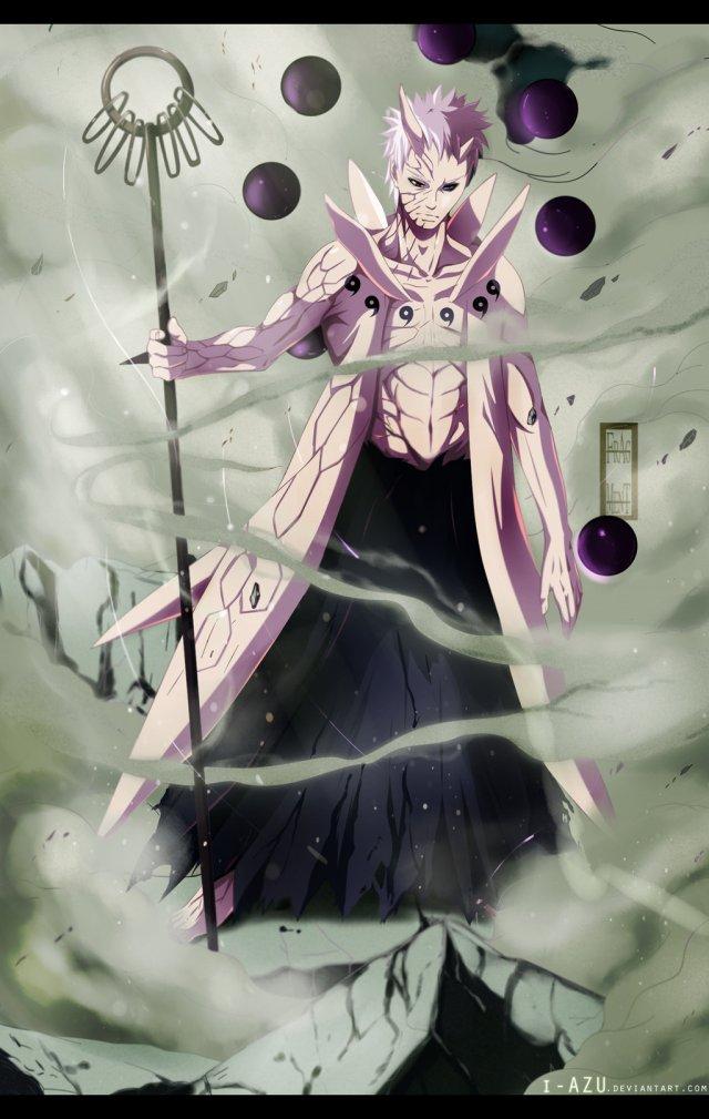 Naruto chapter 640 - Obito's new form - colour by i-azu (http://i-azu.deviantart.com)