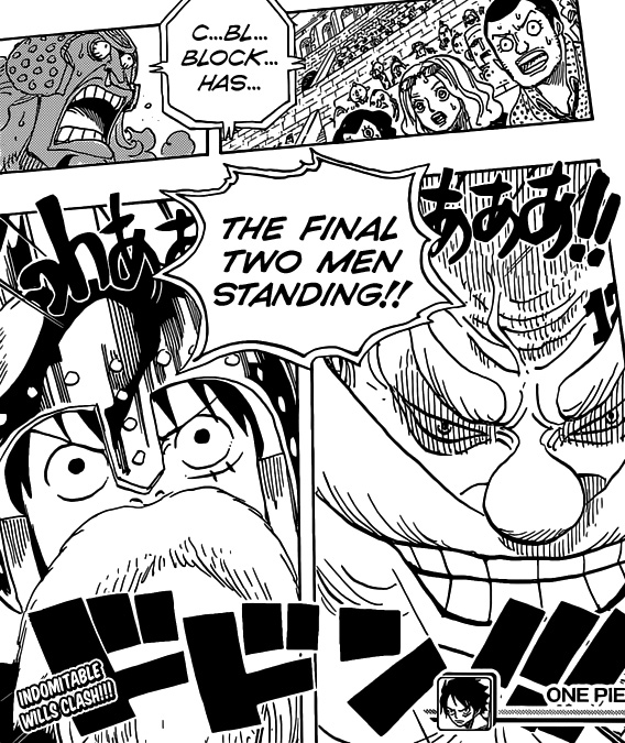One Piece chapter 716 - The final two in Block C