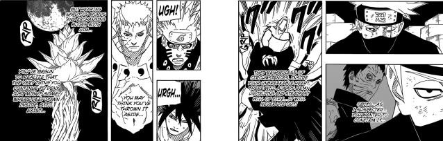 Naruto chapter 650 - Kakashi's assessment of Obito's inner conflict