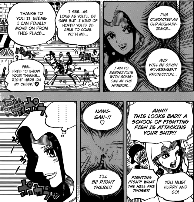 One Piece chapter 725 -  Violet's plan