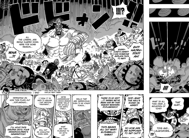 One Piece chapter 725 -  The fate of the defeated