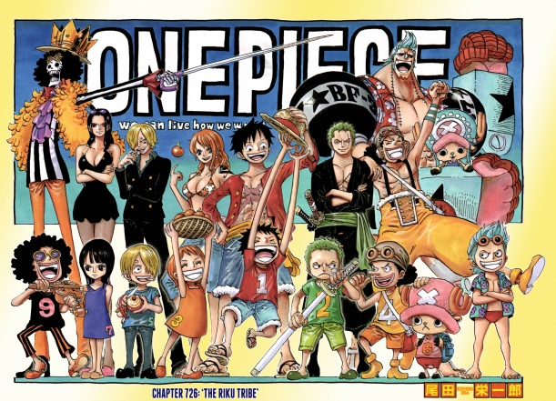 One Piece chapter 726 - double page colour spread