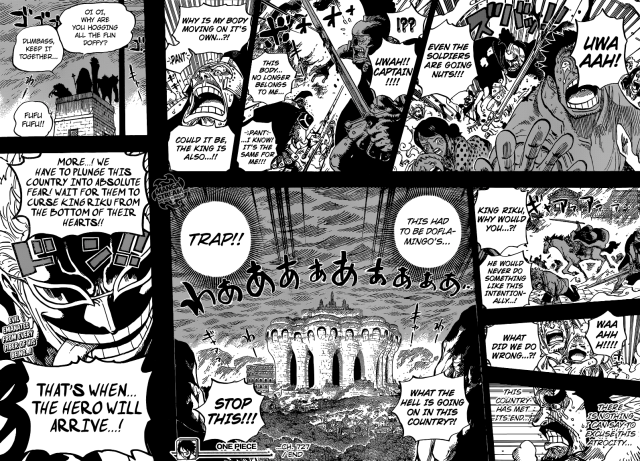 One Piece chapter 727 - The fall of Dressrosa