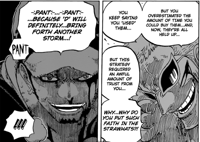 One Piece chapter 729 - Doflamingo and Law