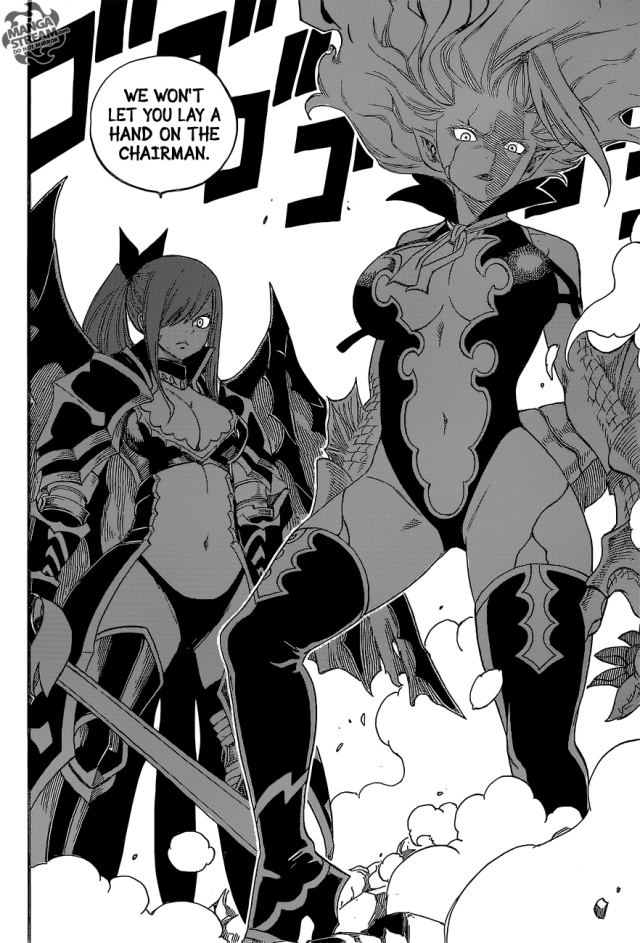 Fairy Tail chapter 364 - Mirajane and Erza transformed