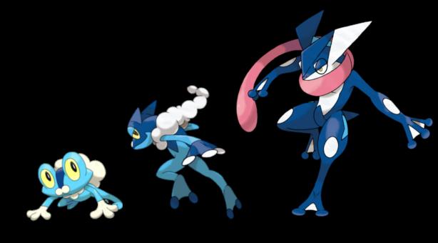 Pokémon - Froakie, Frogadier, Greninja Evolution Chain