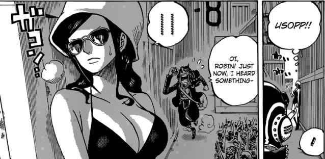 One Piece chapter 732 - Undercover Robin and Usopp