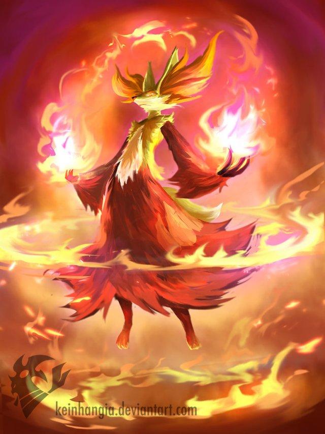 Pokemon X - Delphox - by KeiNhanGia (http://keinhangia.deviantart.com)
