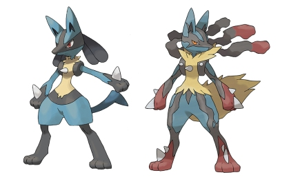 Pokémon X - Lucario and Mega Lucario
