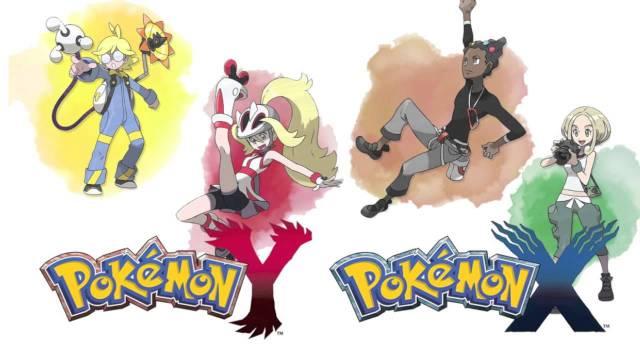 Pokemon X - Gym leaders - Clemont (Voltage), Korrina (Rumble), Grant (Cliff), Viola (Bug)
