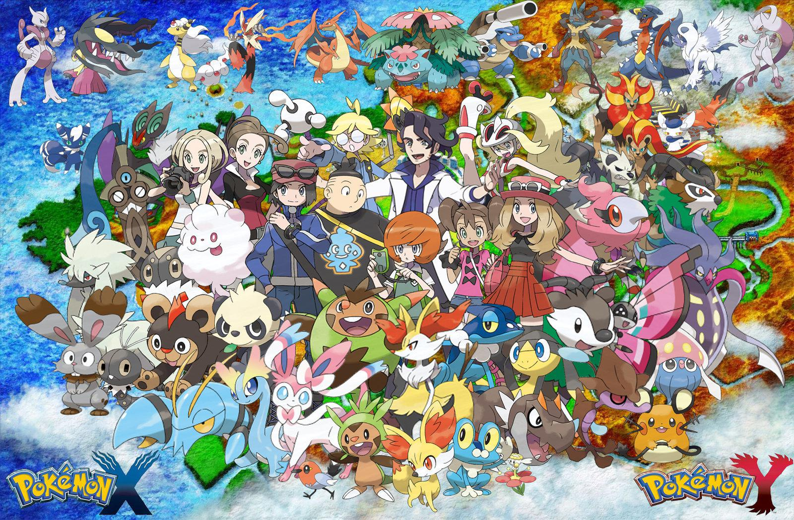 X And Y Anime Characters : Pokémon ds part a new adventure begins