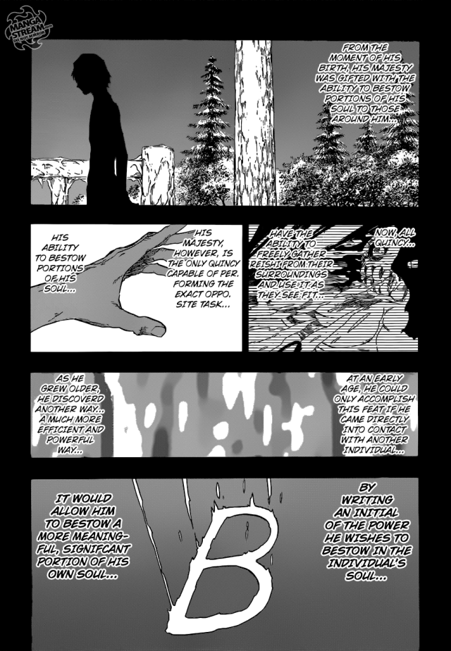 Bleach chapter 565 - Yhwach's ability